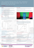 The characterisation of the temporal response of scintillators for use in radiation detection